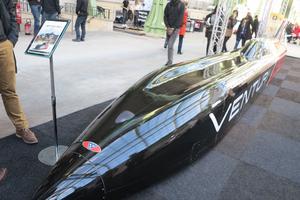 La voiture de course électrique VBB de Venturi (DR).