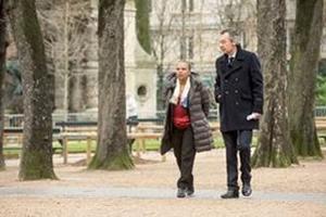 Christiane Taubira et Michel Denisot lors de l'émission <i>Conversations secrètes</i>, enregistrée samedi.