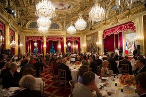 La salle du dîner d'État lors de la visite d'État du président allemand Joachim Gauck.