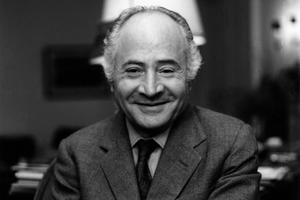 L'écrivain et humoriste Pierre Daninos (1913-2005) vers 1985.