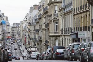 La rue de Monceau.
