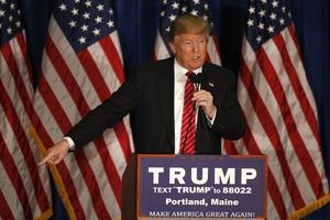 Donald Trump, jeudi à Portland (Maine).