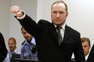 Anders Breivik, lors de l'ouverture de son procès, le 24 août 2012.
