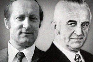 Herbert Quandt (à droite) a sauvé BMW de la faillite en 1959. Eberhard von Kuenheim (à gauche) est à l'origine du positionnement haut de gamme.