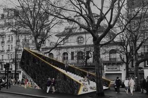 «Mémoire vivante», un escalier qui s'envole vers le ciel. (J. Plessis