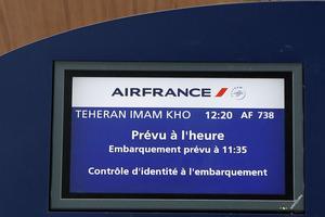 Le vol AF738, premier vol vers Téhéran après huit ans d'absence.