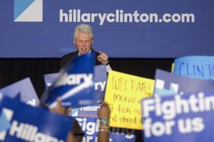 Bill Clinton le 7 avril lors d'un meeting à Philadephie.