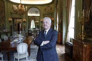 L'ambassadeur de Turquie Hakki Akil, au Musée Camondo à Paris.