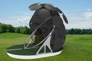 Encore à l'état de prototype ce projet permet de faire l'économie des terrains de golf