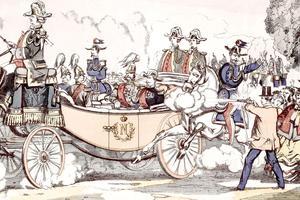 Tentative d'assassinat contre l'empereur Alexandre II le 18 juin 1867 à Paris: un éxilé polonais tire deux coups de feu.
