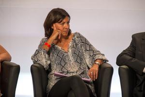 Anne Hidalgo lors d'un meeting en 2015.