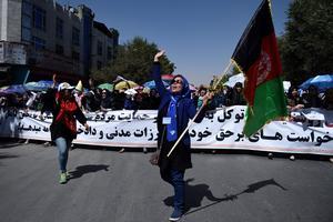 La manifestation se déroulait dans le calme ce samedi 23 juillet 2016.