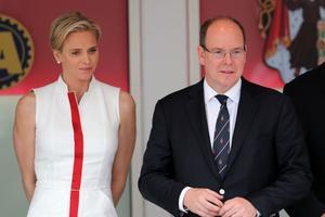 Le prince Albert de Monaco et son épouse Charlène.