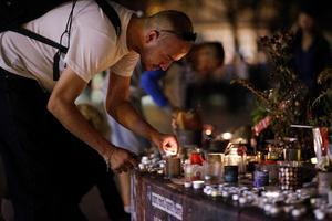 Place de la République, à Paris, mardi soir.