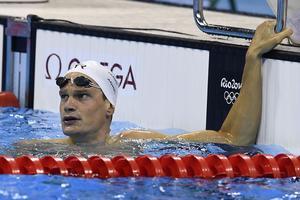 Yannick Agnel dans le bassin de Rio.
