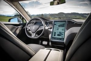 L'habitacle du Model S.