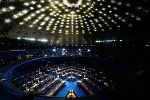 Le Sénat, samedi, au troisième jour de séance de la procédure de destitution de Dilma Rousseff.