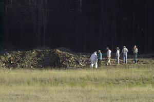 L'avion écrasé à Shanksville a laissé un immense cratère.