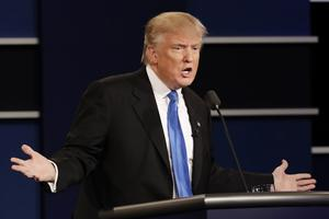 Donald Trump pendant le débat.