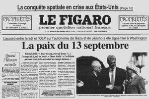 Une du Figaro du 14 septembre 1993.