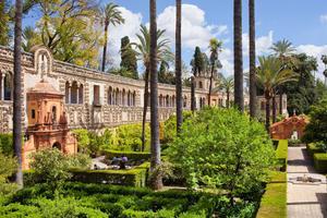 Les jardins del'Alcazar, à Séville.