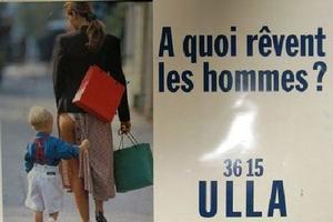 Affiche publicitaire du Minitel Rose dit 3615 ULLA