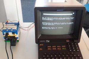 En branchant ce boîtier, on peut utiliser son Minitel comme un ordinateur classique.
