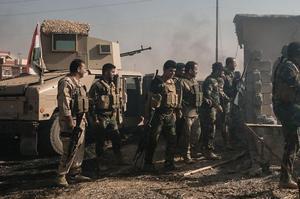 Les peshmergas kurdes ont lancé une attaque contre les djihadistes de l'État islamique, samedi, à Abzakh dans le nord de l'Irak.