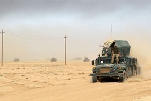 L'armée irakienne avait massé dans la plus grande discrétion une centaine de blindés et de tanks pour l'assaut.
