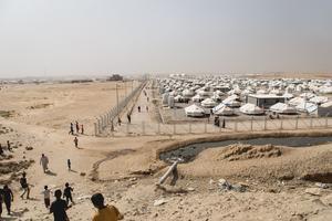 Le camp de Debaga accueille de nombreux réfugiés fuyant les alentours de Mossoul.