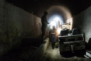 Un gigantesque tunnel cachait un centre d'entraînement souterrain de Daech, à Albou Seif, à proximité de l'aéroport de Mossoul.
