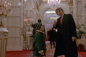 Donald Trump dans <i>Maman, jai encore raté l'avion</i>, 1992.