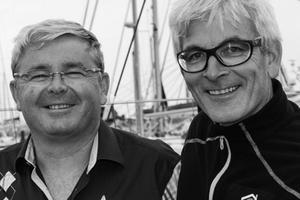 Jean-Jacques Laurent (à gauche) aux côtés de Vincent Riou.