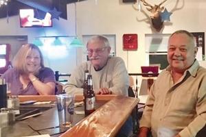 Au Café des Rennes, dans la banlieue de Middletown, le 26 octobre dernier. 90% des clients soutiennent le candidat républicain.