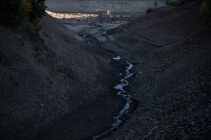 La rivière de Mansilla, au sud de l'Espagne, en octobre dernier.