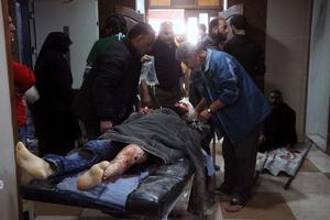 Un syrien blessé dans un hôpital d'Alep ce vendredi.