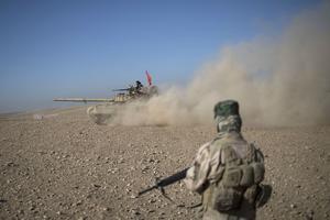 Un tank irakien à Qara Tappa, ce mercredi.