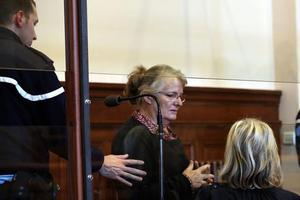 Jacqueline Sauvage devant le tribunal de Blois, en décembre 2015.