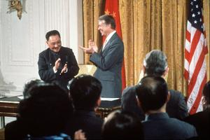 La rencontre Carter-Deng Xiaoping à Washington.