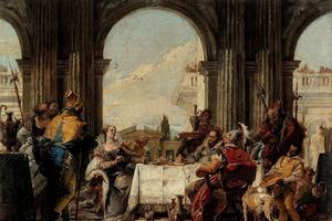 Tiepolo, <i> LeBanquet de Cléopâtre.</i>