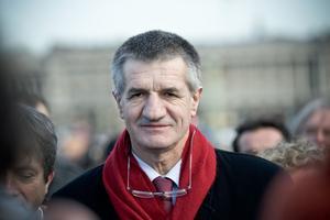 Le candidat à l'élection présidentielle, Jean Lassalle