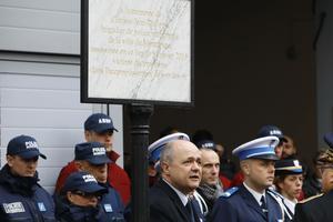 Le ministre de l'Intérieur Bruno Le Roux à la cérémonie d'hommage à Montrouge le 9 janvier 2017.
