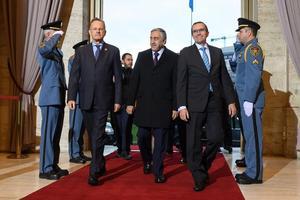 Le dirigeant chypriote turc, Mustafa Akinci, a assuré être venu «dans un esprit positif».