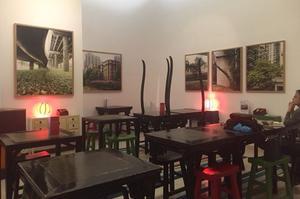Le salon de thé de la Maison de la Chine.