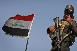 Un soldat irakien à quelques kilomètres de Mossoul, le 17 octobre.