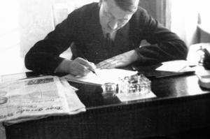 Adolf Hitler à l'hôtel Kaiserhof à Berlin en janvier 1932.
