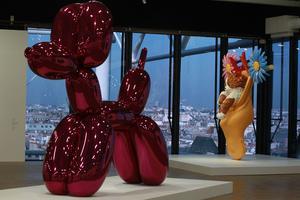 L'exposition Jeff Koons, en 2014.