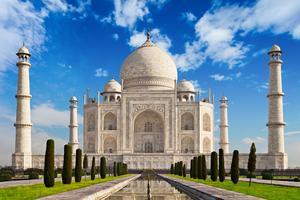 Le Taj Mahal en Inde.