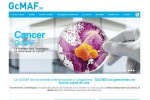 Page d'accueil du site permettant d'acheter le traitement (capture d'écran).