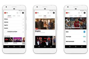 L'application YouTube TV sur mobile